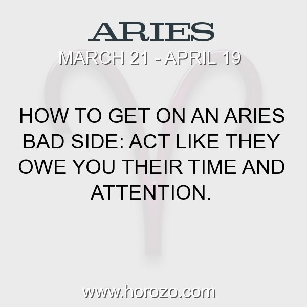 How to get an aries attention