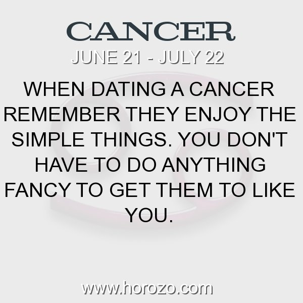 Facts about dating a cancer